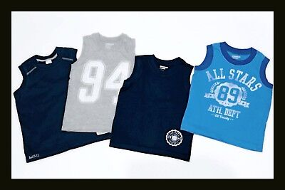 Pre-owned - 4 Pairs of OLD NAVY Tank Tops / Shirts - Boys - Size 3