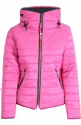 Girls Parka Jacket Kids Coat Padded Quilted Thick Warm Hooded Bubble Age 7- 13