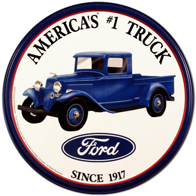 Ford Trucks Tin Sign 12 x 12in 11.75 by 11.75 inches metal / quickly safely new