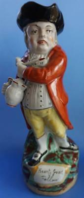 Antique Staffordshire Pottery Toby Jug Hearty Good Fellow