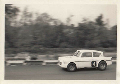 FORD-LOTUS ANGLIA 105E, T.J.DRURY, MALLORY PARK 16th MAY 1965, PHOTOGRAPH