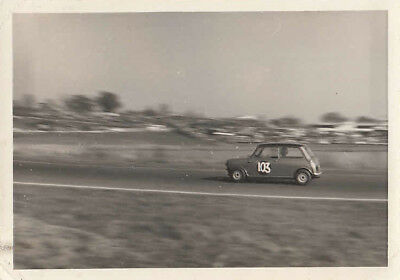 MORRIS MINI COOPER DRIVEN BY B.M.ROSS MELLORY PARK 28th MARCH 1965 PHOTOGRAPH.