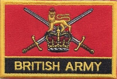 British Army Ensign Flag Embroidered Patch
