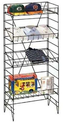 "Store Display Fixtures NEW 4 SHELF 22""Wx55""H FLOOR-STANDING WIRE DISPLAY"