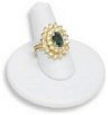 Jewelry Display Fixtures 6 NEW SHORT RING FINGER SINGLE RING DISPLAYS WHITE