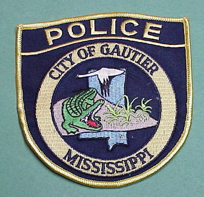 Gautier  Mississippi  Ms  ( Alligator )   Police Patch  Free Shipping!!!