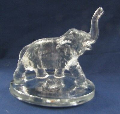 Mosser Glass Bimbah The Elephant (Crystal Clear) Trunk Up 1981