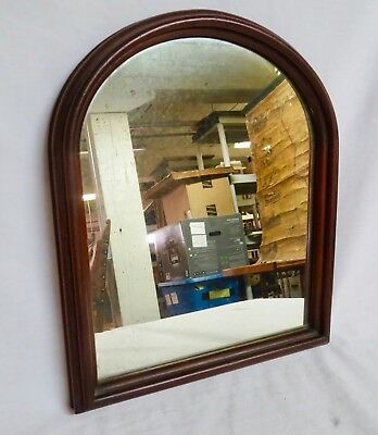 Antique-Mahogany?-Round Top Mirror-Great Condition-Nice Size