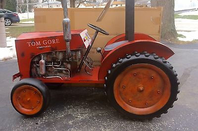 L@@K Tom Gore California Wine Vineyards metal farm Tractor Display Sign rare mib