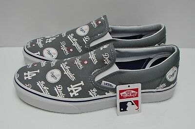 Vans Classic Slip On MLB Los Angeles Dodgers Grey VN-0A38F7PQ0 Men s Size  9 a39bc8957