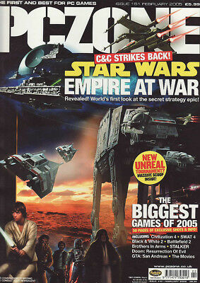 PC ZONE MAGAZINE issue 151 FEBRUARY 2005 - STAR WARS cover!