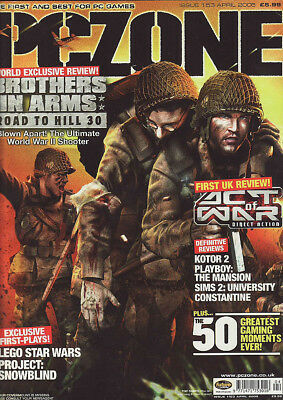 PC ZONE MAGAZINE issue 153 APRIL 2005 - BROTHERS IN ARMS cover!