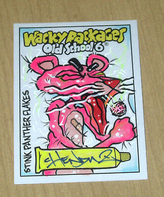 2017 Topps Wacky Packages Old School 6 sketch card artist unknown STINK PANTHER