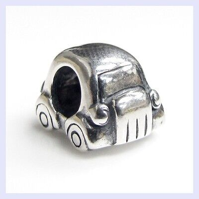 Sterling Silver Beetle Car Automobile Vacation Bead for European Charm Bracelet