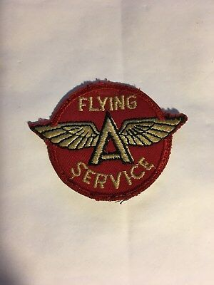 "Vintage Cloth Patch, Flying ""A"" Service"