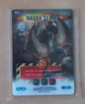 Doctor Who BATTLES IN TIME Ultimate Monsters ULTRA RARE CARD 800 MACRA CLAWS