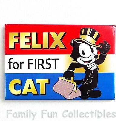 FELIX THE CAT~1995 Ephemera~Fridge Magnet~Cartoon Figure~Felix for First~NEW NOS