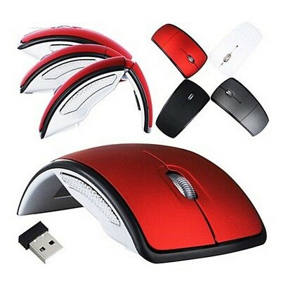 2d1062a0cfc Foldable 2.4 GHz Wireless Arc Optical Mouse Fold Mice USB Receiver for PC  Laptop