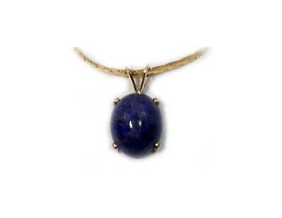 19thC Antique 3 1/2ct Lapis Lazuli Ancient Gem of Heaven Gold Fill Pendant