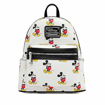Loungefly Disney Classic Vintage Mickey Mouse Vegan White Mini Backpack Purse
