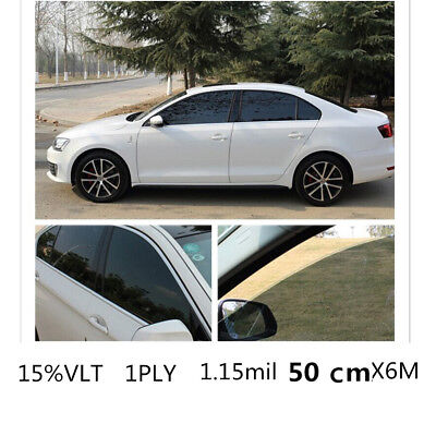 Car Black Car Home Glass Window Tint Tinting Film & shade Roll 50cmx6m 15% VLT