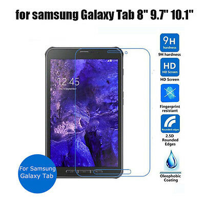 "for Samsung Galaxy Tab Tempered Glass Screen Protector Guard 7"" 8"" 9.7"" 10.1 New"