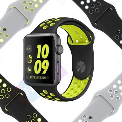 Replacement Silicone Sports Bracelet Strap For Apple Watch Band Series 2 1 38 42
