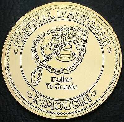 1984 Var 2 Rimouski Quebec Canada Ti-Cousin Trade Dollar Commerce - Combined S/H