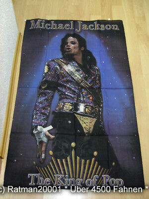 Fahnen Flagge Michael Jackson The King of Pop - 95 x 135 cm