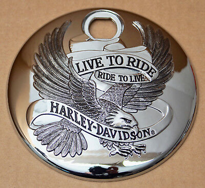 "Harley original Tankkonsolen Klappe  Console Door Cover Cover ""Live to Ride"""