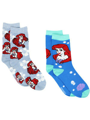The Little Mermaid Ariel Womens 2 pack Crew Socks (Big Kid/Teen/Adult) DP079JCC