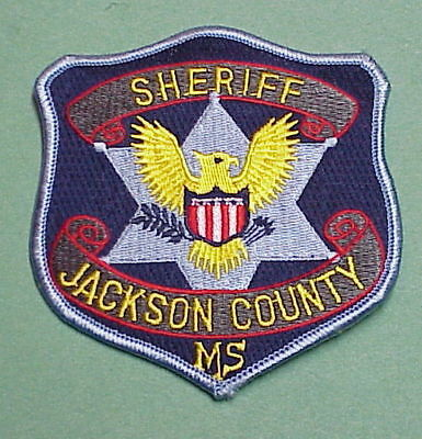 Jackson  County  Mississippi  Ms  Sheriff /  Police Patch   Free Shipping!!!