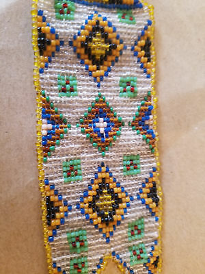 Antique Plains Indian Native American Beaded Watch Fob