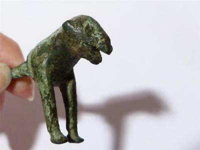 Unique 1-2ndC Romano British Celtic Iron Age Bronze DOG Fitting Metal Detected