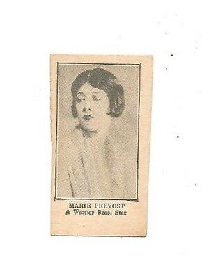 Warner Brothers strip card Marie Prevost