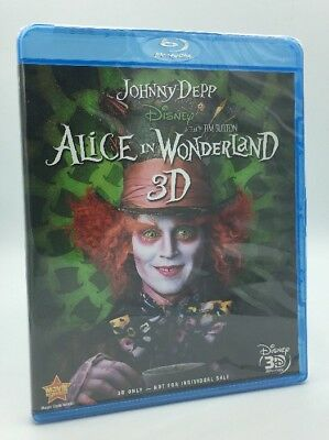 Alice in Wonderland 3D (Blu-ray 3D Disc Only, 2010) NEW
