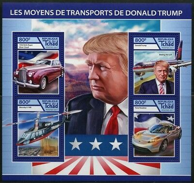 Chad 2017 Modes Of Transportation For  Donald Trump Sheet Mint Nh