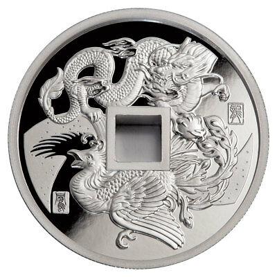 2018 China Dragon & Phoenix 1 oz Silver Proof Medal GEM Proof OGP SKU51891