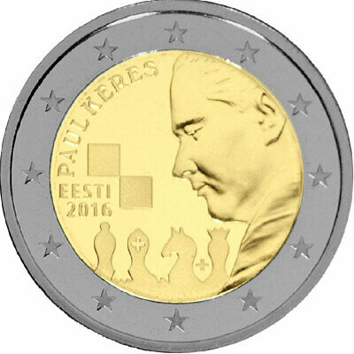 Estonia Moneta Commemorativa Moneta Commemorativa 2016 st Paul Keres Sciolto
