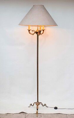 Vintage Mid Century French Empire Style Floor Lamp Brass or Bronze
