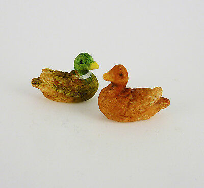 Dollhouse Miniature Fairy Garden Tiny Wild Ducks Pair MF024