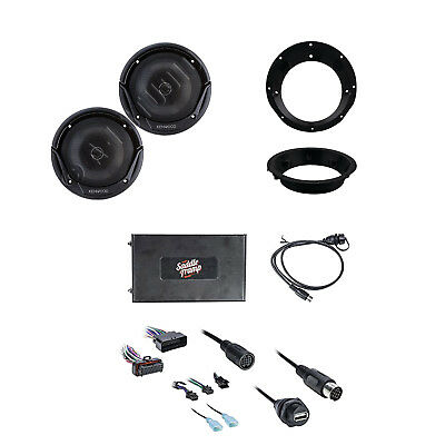 Metra Bluetooth Audio Interface Harley Davidson Radio W/Speakers & Mounting Ring