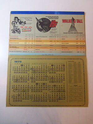 1975 AMERICAN INTERNATIONAL PICTURES Promo CALENDAR Pam Grier Fritz The Cat