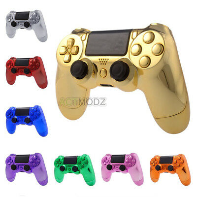 Chrome Color Controller Shell Full Set Buttons Kits for Sony PS4 Playstation 4