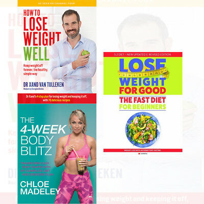 How To Lose Weight For Good 3 Books Collection Set 4-Week Body Blitz NEW BRAND