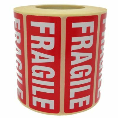 Fragile Parcel Labels - Postage Stickers - 89 x 32mm - Permanent Self Adhesive