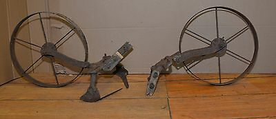 2 Planet Jr cultivator heads collectible farm garden tool parts or repair lot