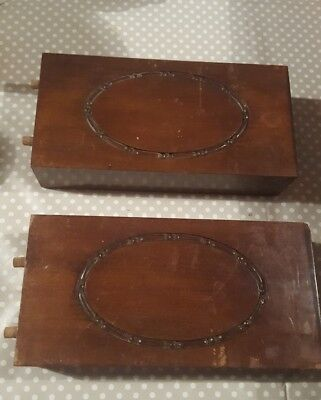 2 x Old wooden carved pieces of wood spares repairs