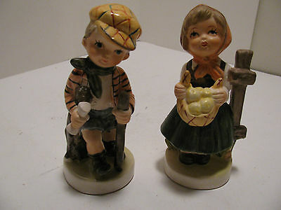 Two Great Ceramic Figurines by Toma Imports - Boy and Girl