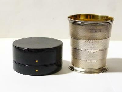 Silver 1861 EARL of YARBOROUGH Livery Crest Collapsible Hunting Beaker HIS OWN